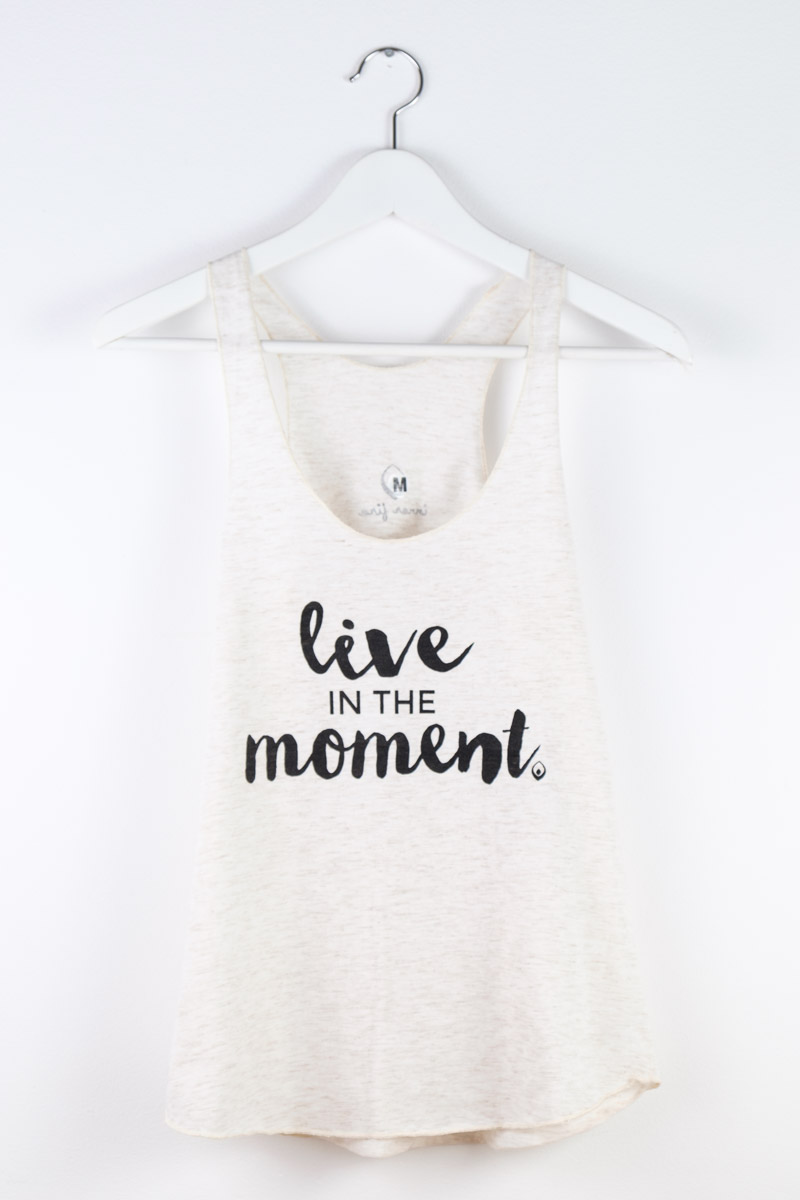 a0b215a757674 Inner Fire  I m just here for the Savasana  tanktop off-white ...